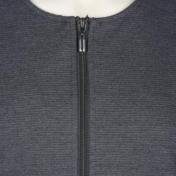 Große Größen Jacke im gerippten Look