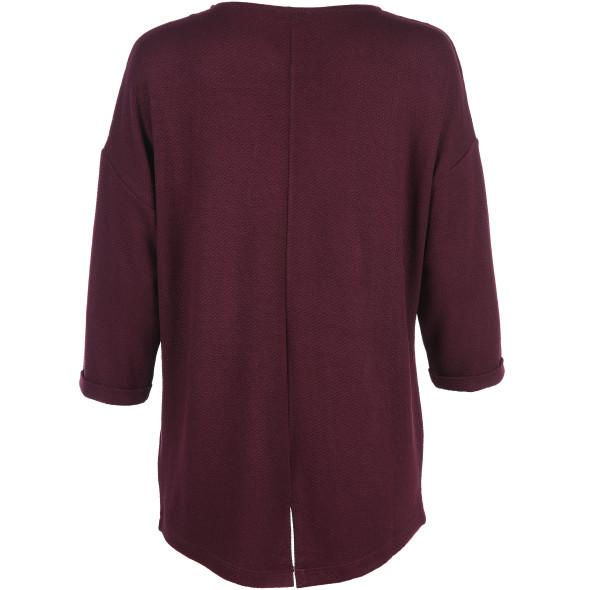 Damen Langarmshirt mit besonderer Struktur
