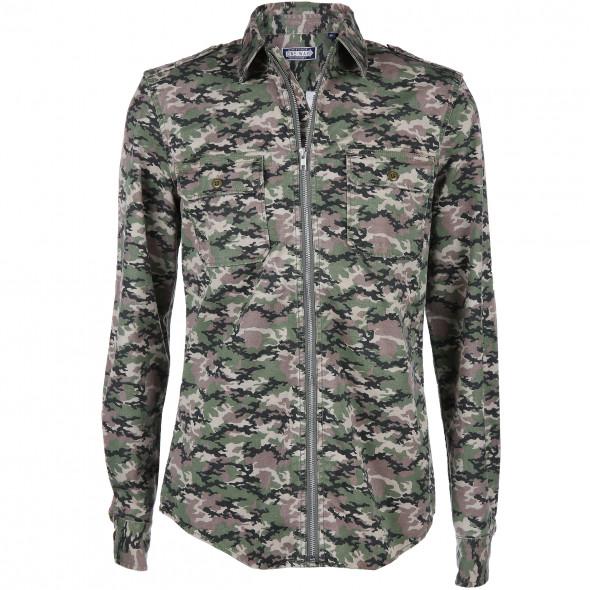Herren Hemd im Camouflage Muster