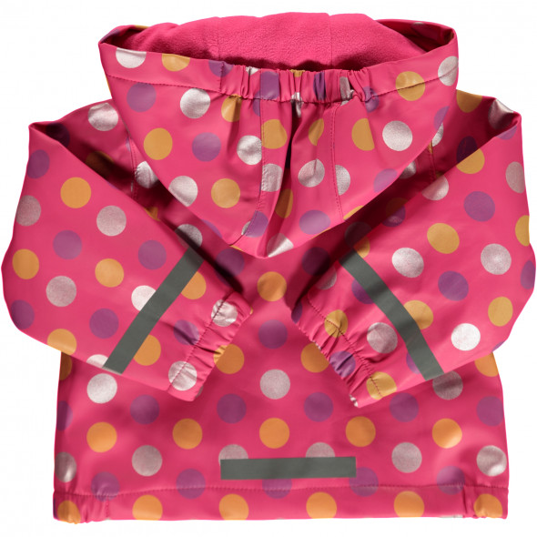 Mädchen Regenmatschjacke mit Punkten