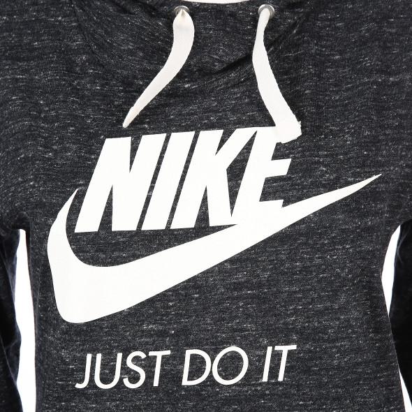 Damen Shirt mit Kapuze und großem Logo