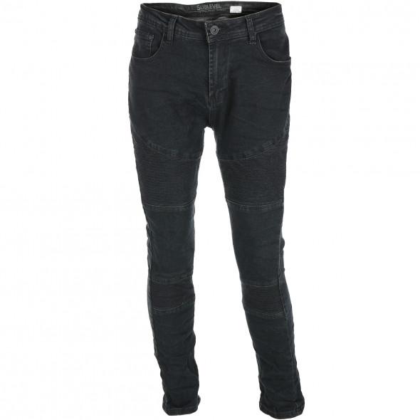 Herren Jeans mit Mustermix-Einsätzen