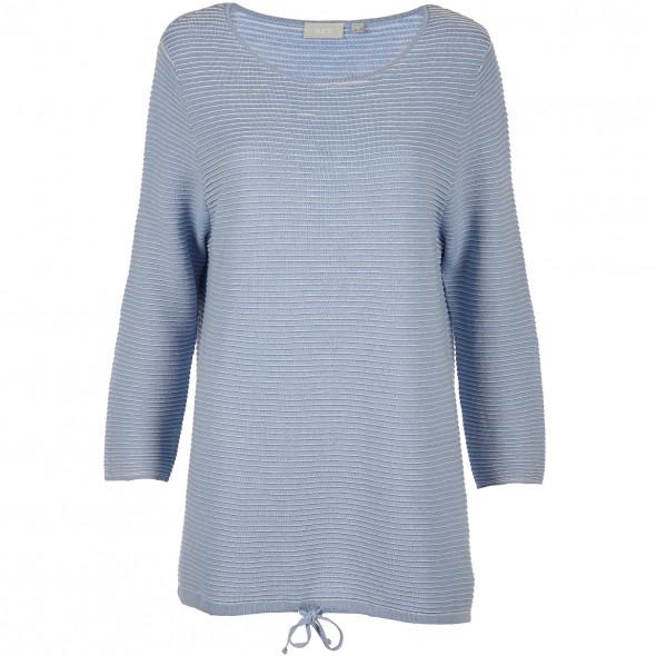 Damen Sweatshirt im Ripp Dessin