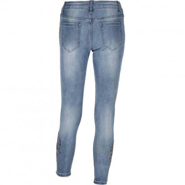 Damen Jeans mit Glitzerstein-Motiv