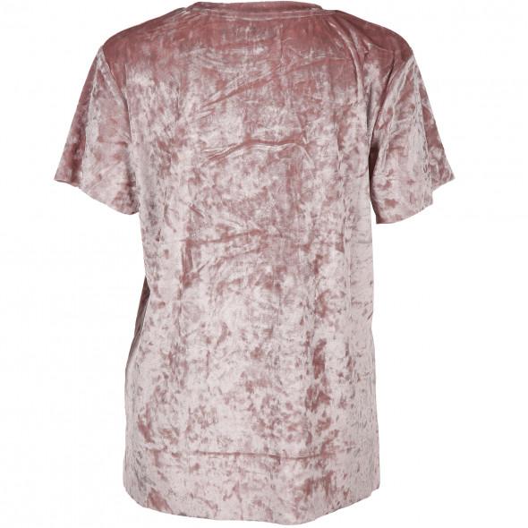 Damen Shirt in Samtoptik