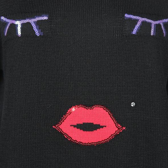 Damen Pullover mit Pailletten