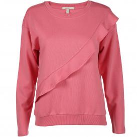 Damen Sweatshirt mit Rüschenaufsatz
