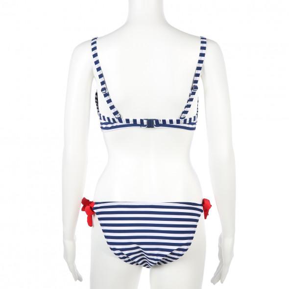 Damen Bikini im Streifenlook