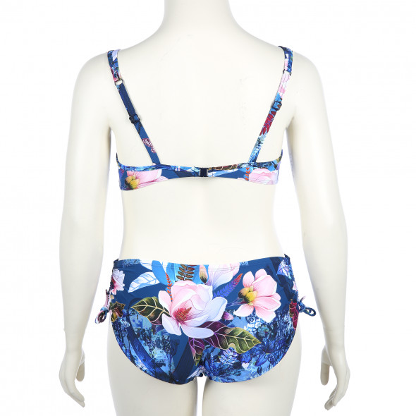 Große Größen Bikini Set in floraler Optik