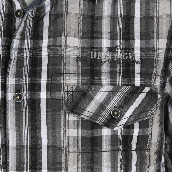 Herren Freizeithemd in Seersucker Qualität