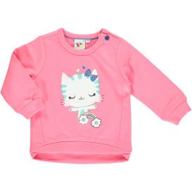 Baby Mädchen Sweatshirt mit Kätzchen