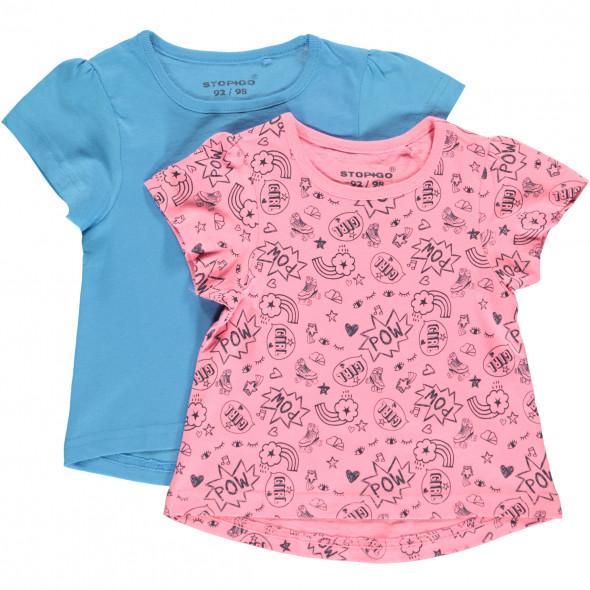Mädchen T-Shirts im 2er Pack