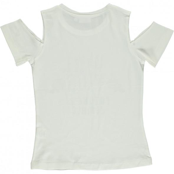 Mädchen Shirt mit Print und Glitzersteinchen