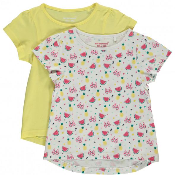 Mädchen Shirts im 2er Pack