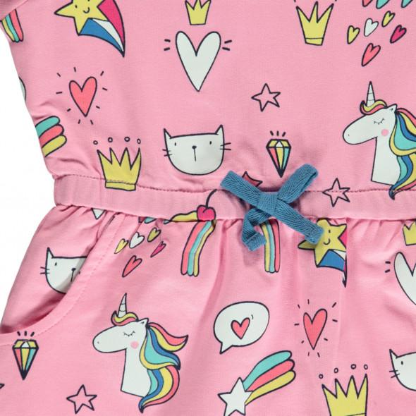 Mädchen Sweatkleid im lustigen Print
