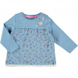 Baby Langarmshirt mit Stickerei und Print