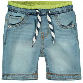 Jungen Jeansbermuda mit Neonbund