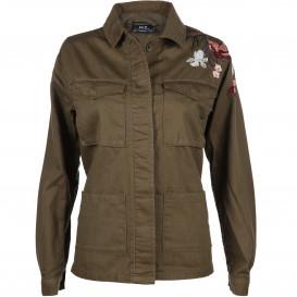 Damen Jacke mit hübscher Blumenstickerei