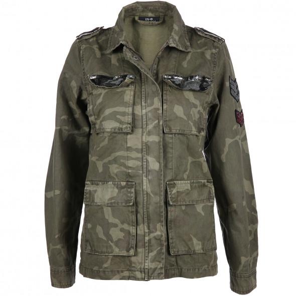 new concept 69a16 66433 Damen Jacke im Camouflage Look