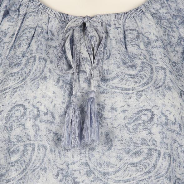 Damen Bluse mit Bordüren Print