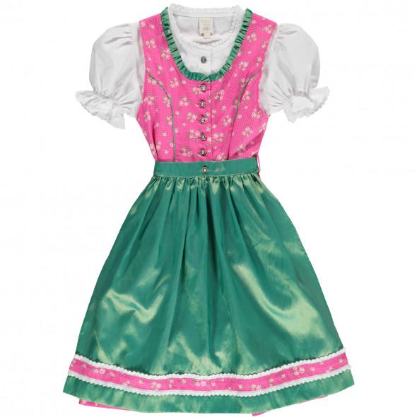 Mädchen Dirndl bestehend aus Bluse, Kleid und Schürze