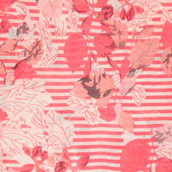 Damen Loop mit Streifen und Blumen