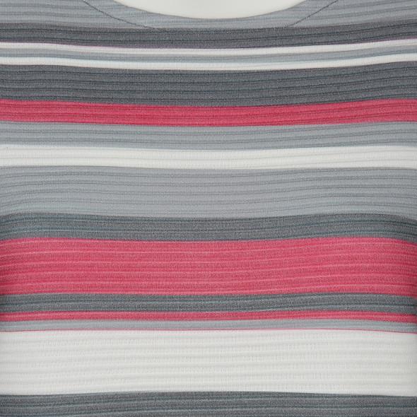 Damen Ringel Shirt mit gerippter Optik