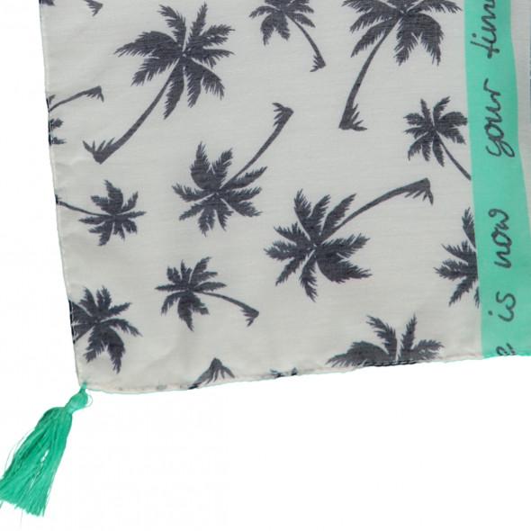 Damen Schal mit Streifen und Palmen
