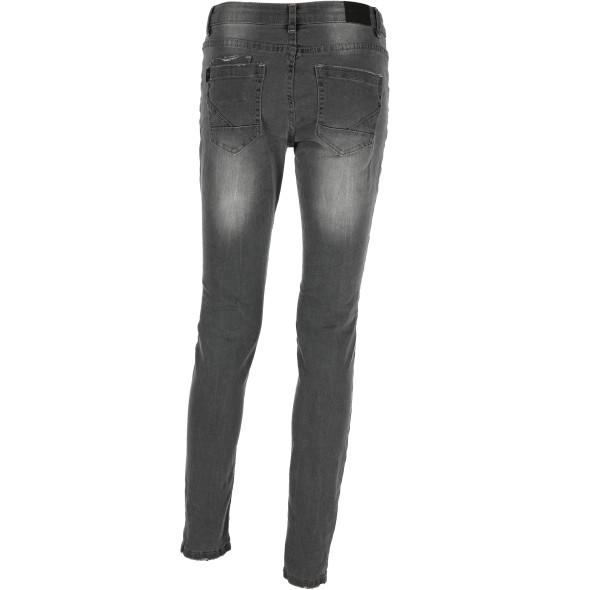 Damen Jeans mit Abnutzungsdetails und coolen Einsätzen