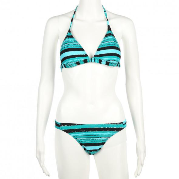 Damen Neckholder Bikini mit Glitzer Print