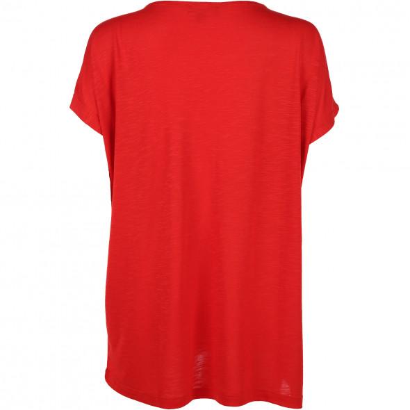 Damen Shirt mit Nieten und offener Schulter