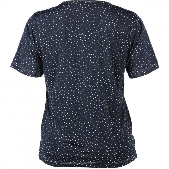 Große Größen Shirt im Tupfenlook