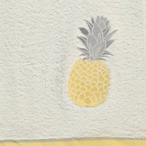 Frottier- Handtuch mit Ananas Applikation 50x90cm