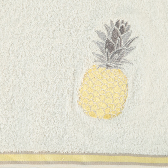 Frottier Duschtuch mit Ananas Applikation 70x130cm