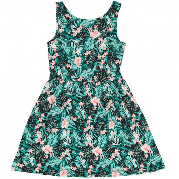 Mädchen Kleid mit Blätterprint