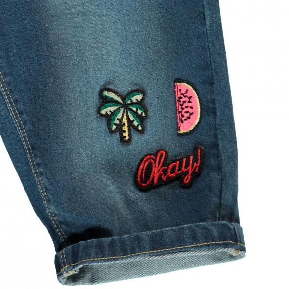 Mädchen Bermuda Jeans mit Stickern