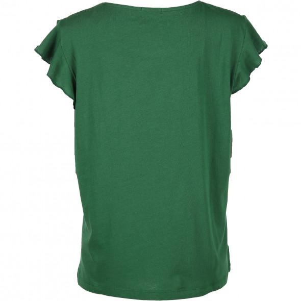 Damen Shirt mit Volantärmel