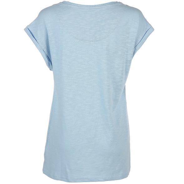 Damen Shirt mit dezenter Streifen Struktur