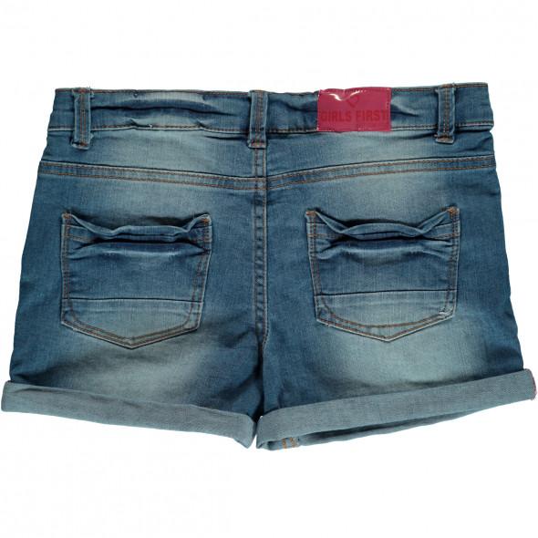 Mädchen Shorts in Jeansblau