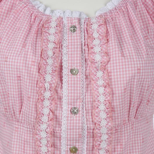 Damen Trachtenbluse in zartem Vichy Karo