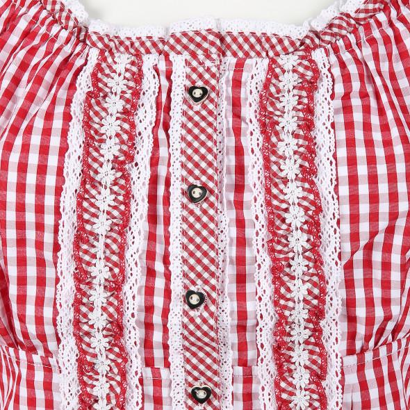 Damen Trachtenbluse im klassischen Vichy Karo