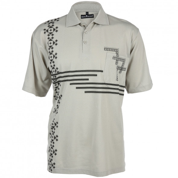 Herren Poloshirt in sportivem Dessin
