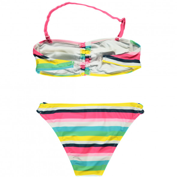 Mädchen Bandeau-Bikini-Set mit Streifen