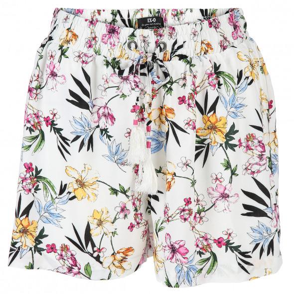 Damen Shorts mit Blumenmuster