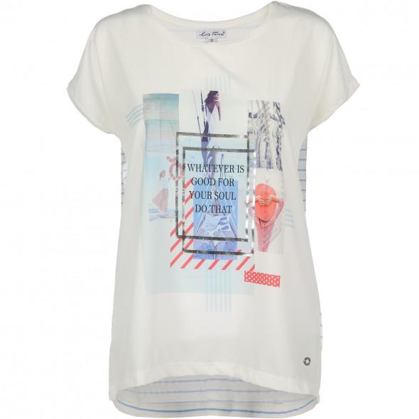 Damen Shirt im Material Mix