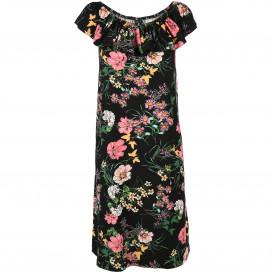 Damen Sommerkleid mit Carmen-Auschnitt
