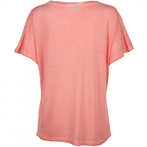 Damen Shirt mit Print und Glitzernietenbesatz