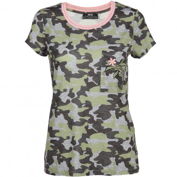 Damen Shirt in Camouflage Optik