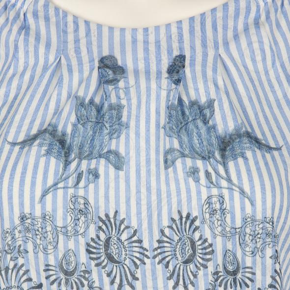 Damen Carmenshirt in Ausbrennerware