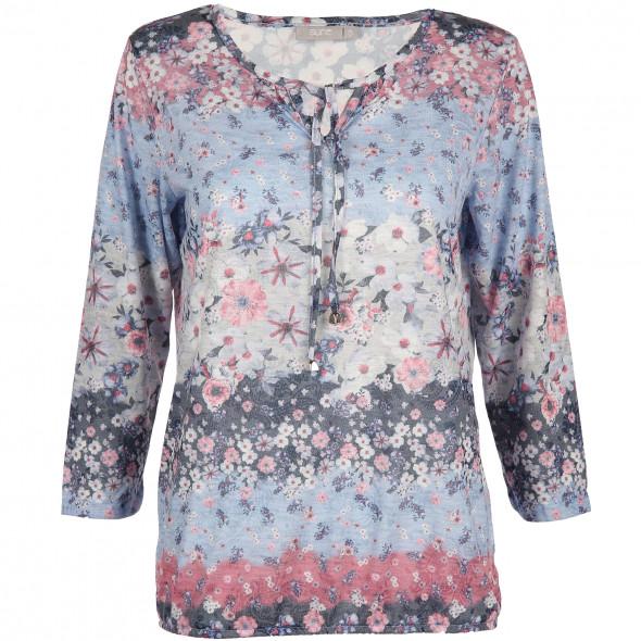 Damen Langarmshirt in floralem Print